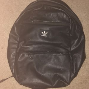 Adidas mens all leather black backpack